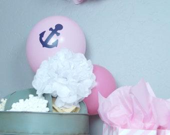 7, Balloon Anchor Decals, Anchor Balloons, Anchor Party, Anchor Decor, Anchor Sticker, Anchor Decoration, Nautical, Nautical Party