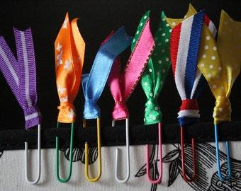 Rainbow Ribbon Paper clips