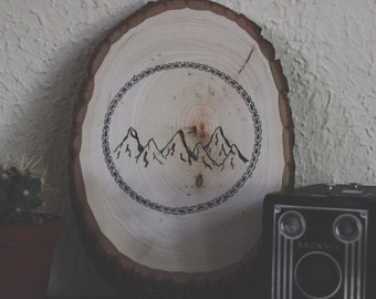 Wood mountains drawing