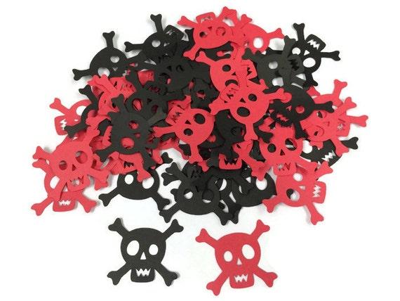 100 Skull and crossbones pirate confetti Halloween Shower
