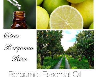 "Bergamot Essential Oil, Note: ""Bergaptene Free"", Italian High Quality Bergamot Essential Oil, 100% Pure Authentic Bergamot Essential Oil"