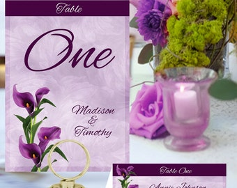 Calla Lily Table Numbers and Place Cards FLW-01-Digital Download
