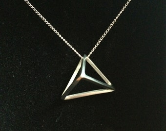 Pyramid Necklace - Handmade Silver