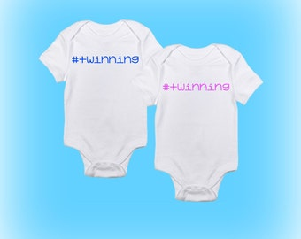 Twin Onesies®- #Twinning Onesie - Onesies for Twins - Baby Shower Idea - Baby Gift Idea - Gift for Twins - Baby Boy -Baby Girl-Baby Clothing