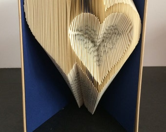 Book Folding Pattern - Double Hearts+ Free Instructions with Pictures