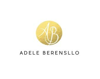 Premade foil logo, gold logo, gold foil logo, name gold logo, circle gold logo, business shop logo, photography logo, gold watermark logo