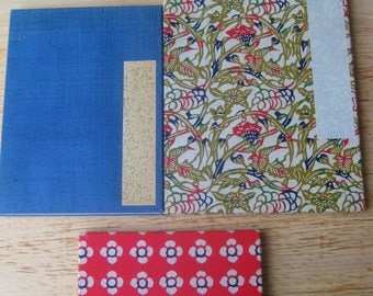 Trio of Vintage Japanese Accordion Sketchbooks, Bundle 2