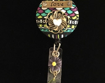 Embrace Love -Nurse Retractable ID Badge Reel/ RN Badge Holder/Doctor Badge Reel/Nurse Badge Holder/Nursing Student Gifts