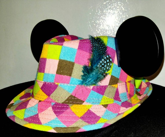 Girls Mickey Hat.  Disneyland hat. Childrens Mickey Mouse Hat. Original Disneyland Hat. Mickey Mouse Ears. Custom Disney Hat.