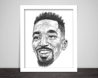 Scribbled J.R. Smith - Poster