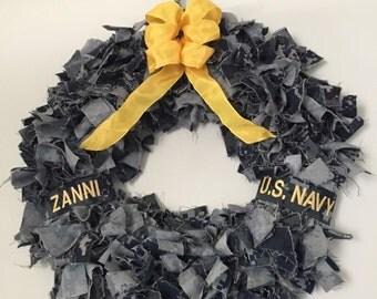 Deluxe US Navy NWU Wreath