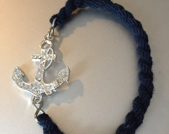 US Navy Boot Band Anchor Bracelet