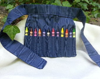 Handcrafted Crayon Apron * Utility Belt for the Budding Artist * Unique Gift for Boy/Girl * Tool Belt for Crayons * Utility Belt for Crayons