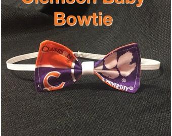 Clemson Baby Bow Tie