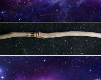 Strong Pagan / Wicaan Wand - 39 cm with Copper Band, Magic