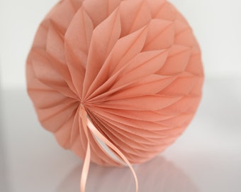 Terracotta Tissue paper honeycombs -  hanging wedding party decorations