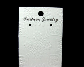 Embossed Earring Cards Set of 25