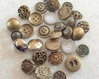 Sale! 30 pcs Assorted Plastic Buttons