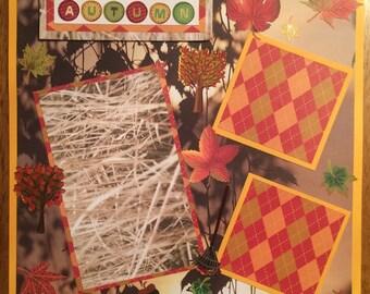 "12x12 Premade Scrapbook Page-""Autumn"""