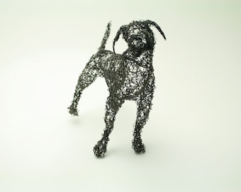 great dane wire sculpture