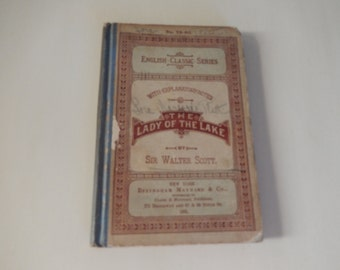 THE LADY of the Lake Book by Sir Walter Scott, Bart
