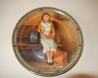 NORMAN ROCKWELL PLATE Wall Hanging A Young Girl's Dream