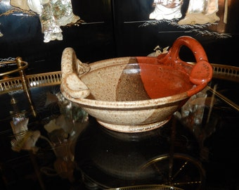 ART POTTERY BOWL with Handles