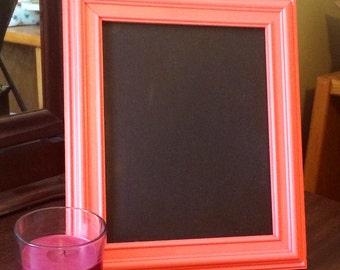 Coral Framed Chalkboard