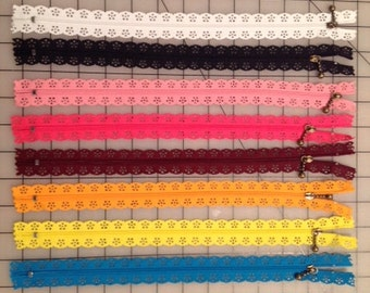 """Decorative zippers 12"""" (price for 4 pcs)"""