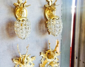 louis XVI french wall lamps