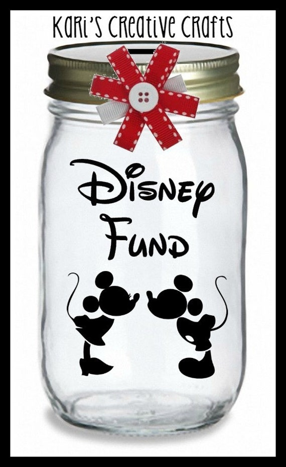 Disney Vacation Fund Vacation Bank Coin Jar Disney Bank