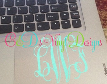 Monogram Decal - Laptop Monogram Decal - Monogram Decal - Monogram Decal - Laptop Decal - Custom Monogram Decal - Monogram Decal - Monogram