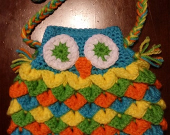 Sunburst Owl Purse