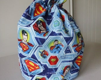 Super Man Draw String Bags 2 available