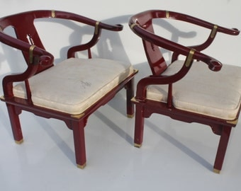Pair Of  Elegant  Mid Century  Chair In The  Style Of  James  Mont.