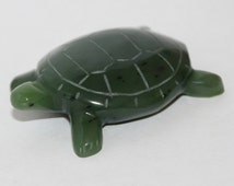 Russian Jade Turtle, Siberian Hand Carved Turtle, FREE SHIPPING