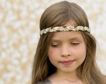 Cream and Brown Boho Headband