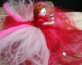 Merino Wool Felt Fairy. Rose Blush Fae