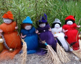 Wool Felt Fairy - Seven Sisters - wool felt witches