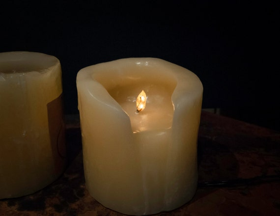 Vintage Beeswax Electric Flame Candle