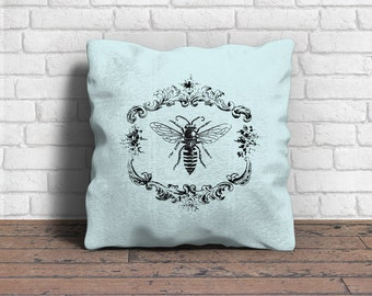 Digital Download, Ornate Vintage Bee, Image for Iron-on Transfer, Image Transfer, Pillows, Napkins, Bags, Paper crafts, etc.