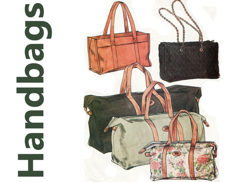 Designer Handbag Pattern Vogue 9763 Uncut Channel Style