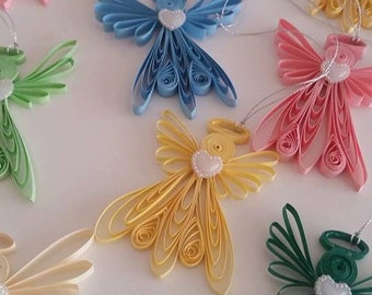 Quilling Angel , Quilling Art, Ornament Quilled, Paper Angel, Angel quilling, Home decor, Christmas gift, Christmas ornament,