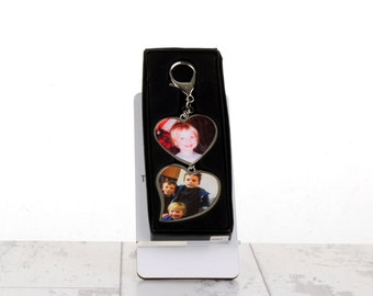 Personalised Heart Shaped Key Fob With Box