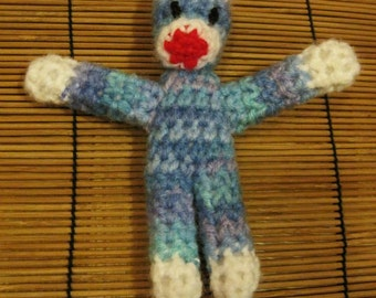 Small Crochet Sock Monkey