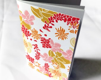 Floral Pocket Size Notebook, Desert Spirit Pattern, mini notebook, pocketbook, small notebook