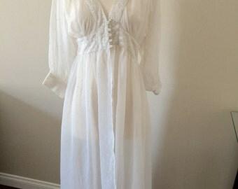 cream negligee
