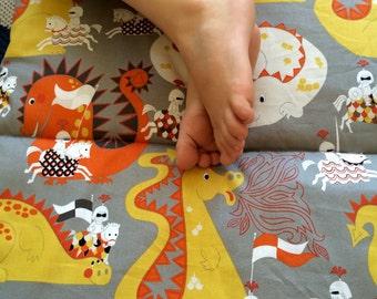 Preschool Kindergarten Nap Mat - Knights & Dragons - Daycare Nap Mat - Kindermat - Bedroll Toddler Mat