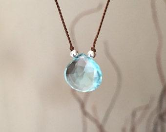 Aqua Blue Quartz Necklace