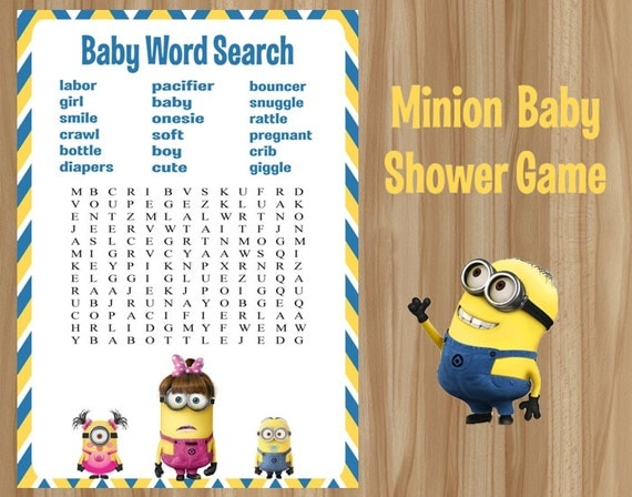 minion baby shower game minion shower game minion baby shower